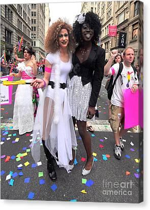 Nyc Gay Pride 2011 Canvas Print by Mark Gilman