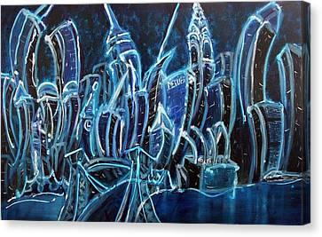 Nyc Jazz Canvas Print by Felix Concepcion