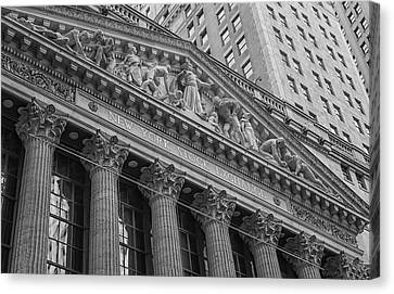 Nyse  New York Stock Exchange Wall Street Canvas Print by Susan Candelario