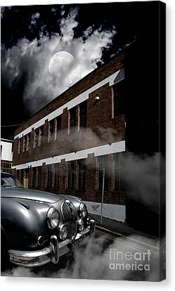 Old Car Near Building Canvas Print by Jorgo Photography - Wall Art Gallery