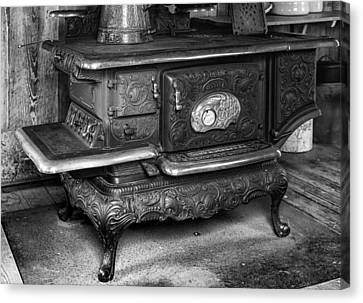 Old Clarion Wood Burning Stove Canvas Print by Lynn Palmer