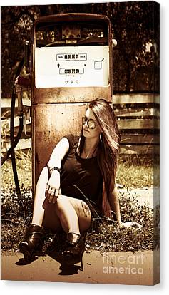 Old Gas Pump Canvas Print by Jorgo Photography - Wall Art Gallery