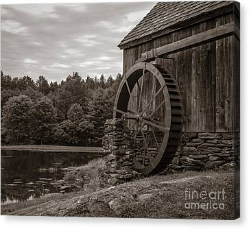 Old Grist Mill Vermont Canvas Print by Edward Fielding