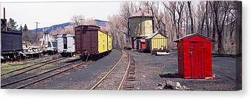 Old Train Terminal, Chama, New Mexico Canvas Print by Panoramic Images