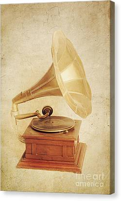 Old Vintage Gold Gramophone Photo. Classical Sound Canvas Print by Jorgo Photography - Wall Art Gallery
