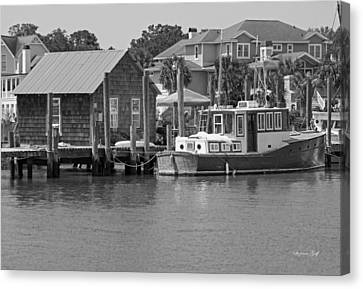 On Shem Creek Canvas Print by Suzanne Gaff