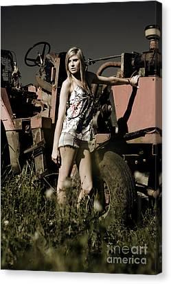 On The Farm At Dusk Canvas Print by Jorgo Photography - Wall Art Gallery
