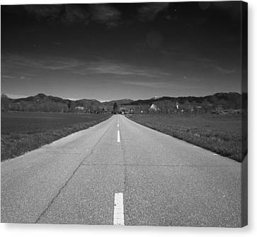 On The Road Canvas Print by Marcio Faustino