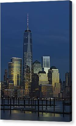 One World Trade Center At Twilight Canvas Print by Susan Candelario