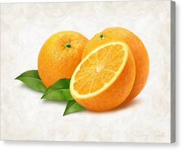 Oranges Canvas Print by Danny Smythe