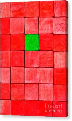 Painting Of Handicraft Cubes Canvas Print by George Atsametakis