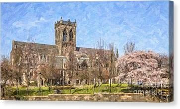 Paisley Abbey Canvas Print by Liz Leyden
