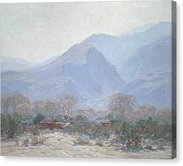 Palm Springs Landscape With Shack Canvas Print by John Frost