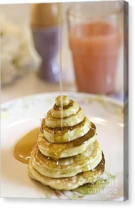 Pancake Piramid Canvas Print by Iris Richardson