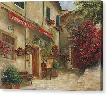 Panini Cafe' Canvas Print by Chris Brandley