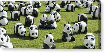 Paper Made Pandas From World Wildlife Canvas Print by Panoramic Images