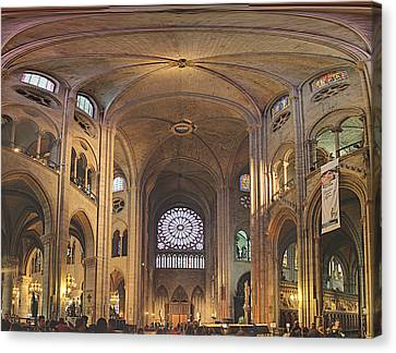 Paris France - Notre Dame De Paris - 01138 Canvas Print by DC Photographer