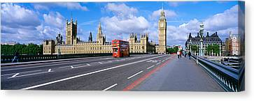Parliament Big Ben London England Canvas Print by Panoramic Images