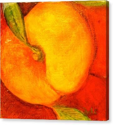 Peachy Canvas Print by Debi Starr