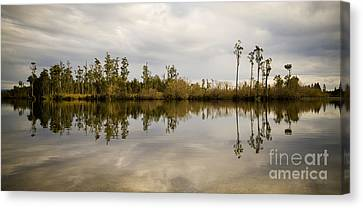 Perfect Lake Canvas Print by Tim Hester