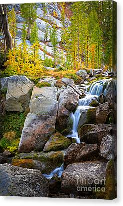Perfection Lakes Falls Canvas Print by Inge Johnsson