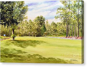 Perry Golf Course Florida Canvas Print by Bill Holkham