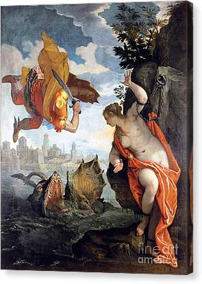 Perseus Rescuing Andromeda Canvas Print by Pg Reproductions
