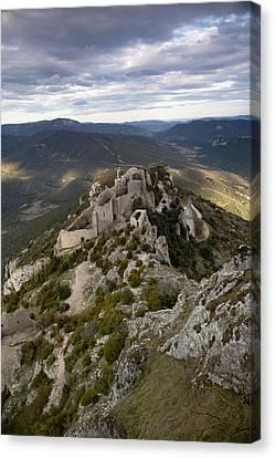 Peyrepertuse Castle Canvas Print by Ruben Vicente
