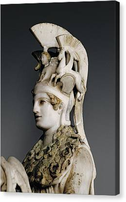 Phidias 490 -431 Bc. Varvakeion Athena Canvas Print by Everett