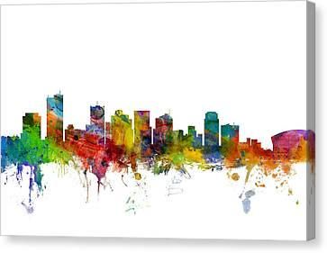 Phoenix Arizona Skyline Canvas Print by Michael Tompsett
