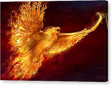 Phoenix Rising Canvas Print by Tom Wood