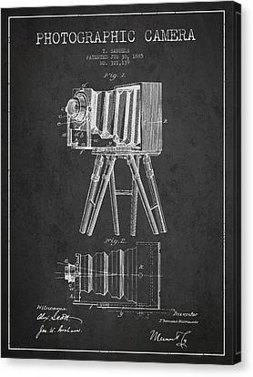 Photographic Camera Patent Drawing From 1885 Canvas Print by Aged Pixel