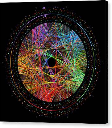 Pi Transition Paths Canvas Print by Martin Krzywinski