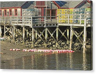 Pier In Tenants Harbor Maine Canvas Print by Keith Webber Jr