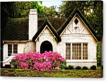 Pink Azaleas - Old Southern Charm By Sharon Cummings Canvas Print by Sharon Cummings