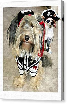 Pirate Dogs Canvas Print by Jane Schnetlage