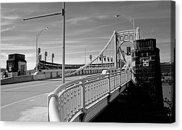 Pittsburgh - Roberto Clemente Bridge Canvas Print by Frank Romeo