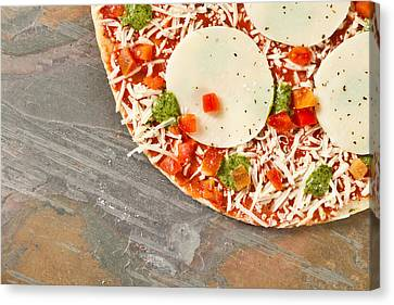 Pizza Canvas Print by Tom Gowanlock