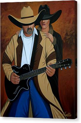Play A Song For Me Canvas Print by Lance Headlee