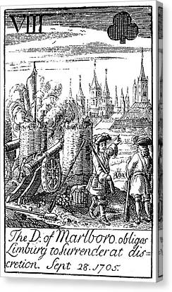 Playing Card, 1707 Canvas Print by Granger