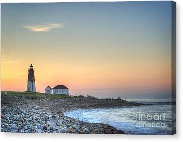 Point Judith Lighthouse Canvas Print by Juli Scalzi
