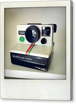 Polaroid Camera.  Canvas Print by Les Cunliffe