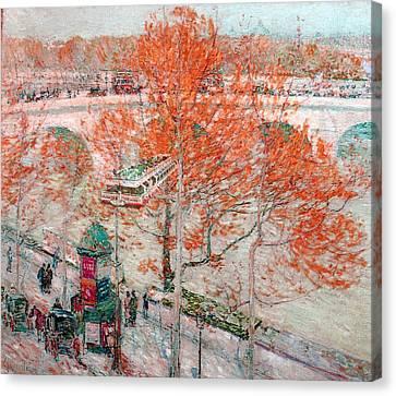 Pont Royal Paris Canvas Print by Childe Hassam