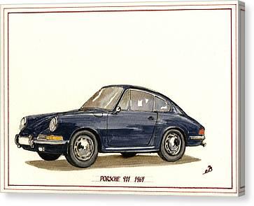 Porsche 911 Classic Canvas Print by Juan  Bosco