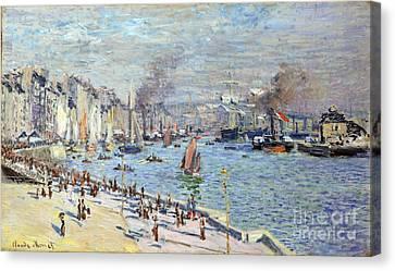 Port Of Le Havre Canvas Print by Claude Monet