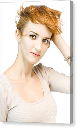 Portrait Of A Beautiful Redhead Woman Canvas Print by Jorgo Photography - Wall Art Gallery