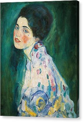 Portrait Of A Young Woman Canvas Print by Gustav Klimt