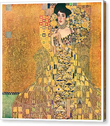 Portrait Of Adele Bloch-bauer I Canvas Print by Gustav Klimt
