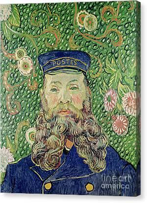 Portrait Of The Postman Joseph Roulin Canvas Print by Vincent Van Gogh