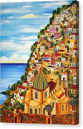 Positano Canvas Print by Roberto Gagliardi